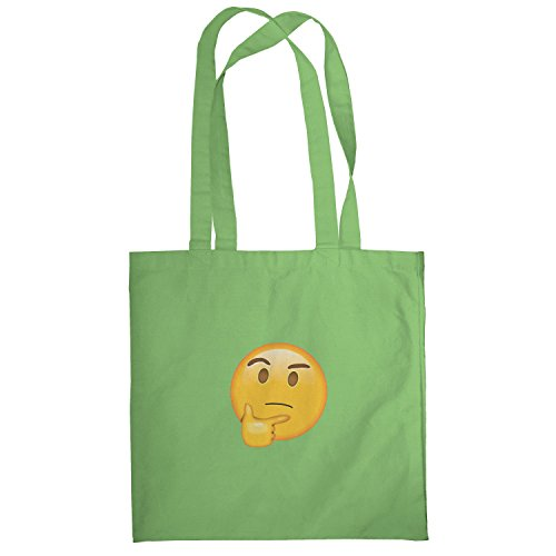 Texlab–thinking Emoji–sacchetto di stoffa Verde chiaro