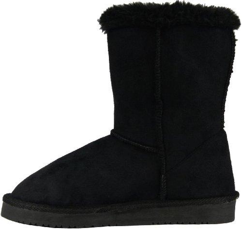 Damen Winter Boots Stiefeletten Winterstiefel Schneestiefel warm gefüttert Schwarz