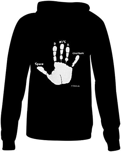 Gamer Hand ★ Confortable veste pour femmes ★ imprimé de haute qualité et slogan amusant ★ Le cadeau parfait en toute occasion schwarz