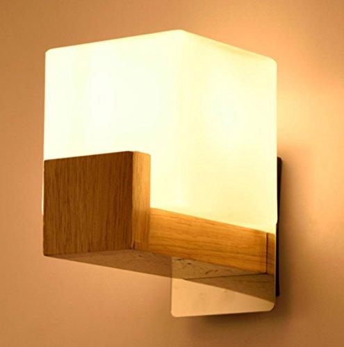 Creative Chinois Tête de Lit Mur Lampe Simple Moderne LED Balcon Allée Escalier Bois Lampes , 2