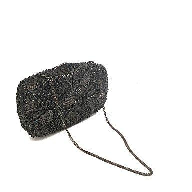 SUNNY KEY-Pochette e Clutch@Borsa da sera Metallo Raso/Satin Senza cerniera Nero , black black