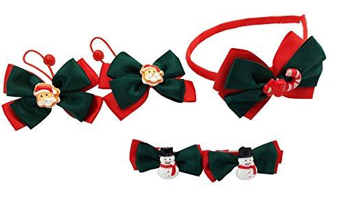 stmas Serie Haar Zubehör für feines Haar Headbands Haarspangen Schleife Alligator Clips für Kleinkinder Baby Mädchen Kinder Teens Urlaub Weihnachten Geschenk 9Pack (Kleinkind-mädchen-urlaub-outfits)