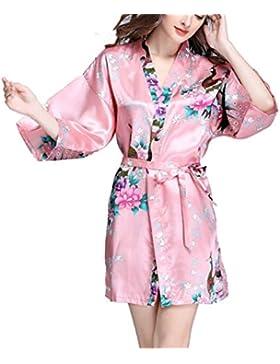 [Sponsorizzato]Keland Donna Vetaglie Pigiama Kimono Camicia da Notte Cintura Indumenti Dress Flare Manica Lunga Sleepwear Nightwear...