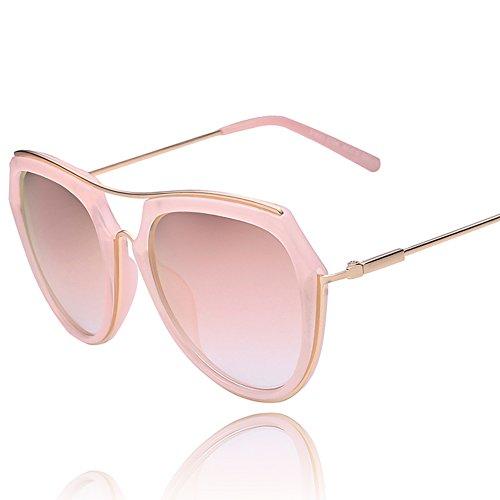 Runde konfrontiert polarisierende Sonnenbrillen/Net rot Vintage Sonnenbrillen/Rosa Spiegel/Frosch-Spiegel-C