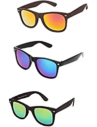 Combo Of 3 Wayferer (blue+red+green) Mercury Sunglass For Men's And Women's