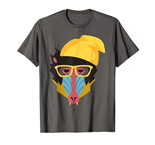 Pavian Affe Kostüm Fasching Karneval Halloween Tshirt