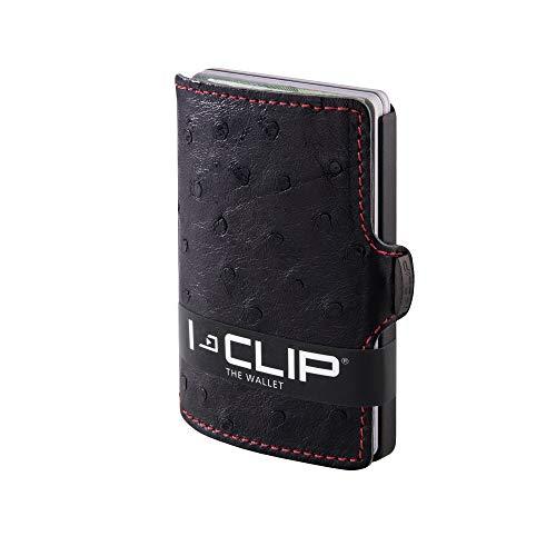 I-CLIP ® Cartera-Exclusivo Piel De Avestruz Cuerpo