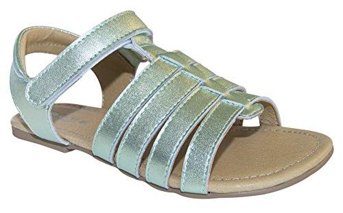 MOVE  Girls basic sandal, Mädchen Sandale, Sandales pour fille Vert - Grün (922/Mint metallic)
