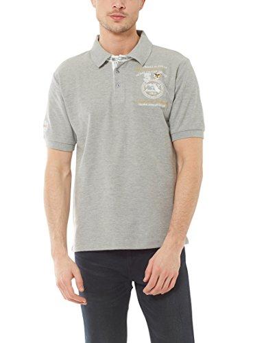 Ultrasport Fort Lauderdale Collection Poloshirt Herren Wadhurst klassisches Herren Polohemd im 3-Knopf-Style, Grau Melange, XL