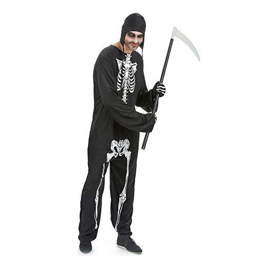 Kostüm Baby Zombie Mutterschaft - PRTQI Halloween-Kostüm Erwachsene Horror Blutige Cosplay Weiße Knochen Männer Zombie-Kostüm,M