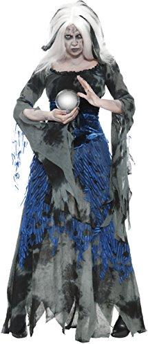 Smiffys, Damen Sündhafte Wahrsagerin Kostüm, Kleid und Überkleid, Größe: S, (Halloween Ideen Wahrsagerin Kostüm)