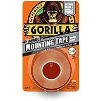 Gorilla Glue 3044101 Heavy-Duty Double Sided Mounting Tape, 25.4 mm x 1.52 m