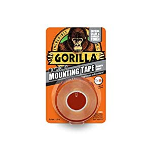 Gorilla Glue 3044101 Heavy-Duty Double Sided Mounting Tape, 25.4 mm x 1.52 m