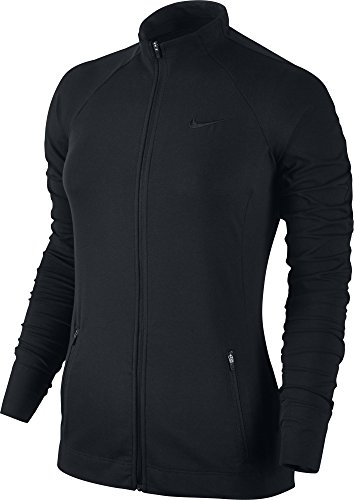 Nike Damen Fullzip Trainingsjacke, Black, L