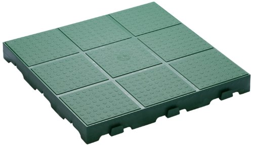 Toomax Z661RE52 Floory Set 10 Pavimentazioni, 40-F, 40X40X4, Verde