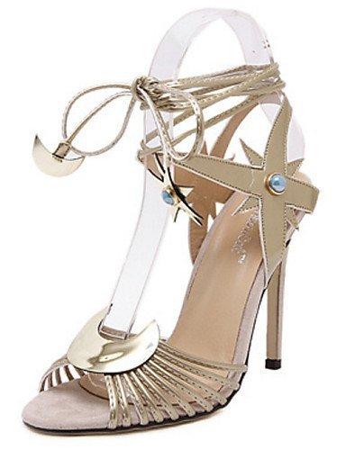 lfnlyx PU Femme Chaussures Talons Stiletto Talon/bout ouvert Sandales extérieur/Décontracté Argenté/doré Argent - argent