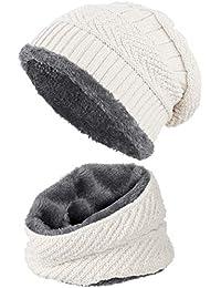 Amazon.it  Bianco - Berretti in maglia   Cappelli e cappellini ... cb40aec57d2f