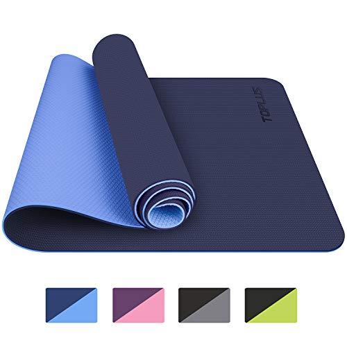 TOPLUS Tapis de Yoga, Tapis Gym - en TPE matériaux Recyclable, Ultra antidérapant et Durable, 183x61x0.6 cm, Non Toxique, Tapis de...