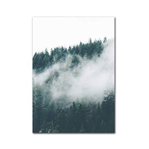 SCLPOSTER Poster Nebelwald Leinwand Malerei Modulare Wandkunst Bild Poster Und Druck Auf Wanddekoration Kunst Diagramm Wandbild Für Wohnzimmer 40x50 cm -
