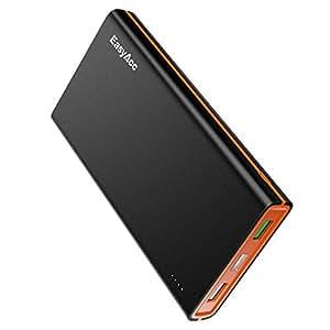 EasyAcc Batteria Portatile da 15000mAh con Ricarica Rapida Ricarica Rapida 3.0 per Android, iPhone, Samsung, tablet e molto altro - Nero e Arancione