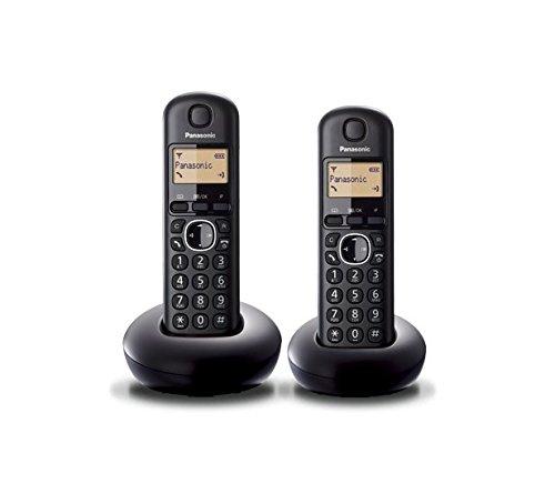 Panasonic KX-TGB212SPB - Teléfono inalámbrico digital (DECT Dúo, identificación de llamada entrante), negro