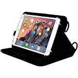 Funda Universal tipo Folio Cooper Cases (TM) Magic Carry para Tablet de Samsung Galaxy Tab Active / LTE con Asa para Hombro en Negro (Cubierta de poliuretano, soporte para visitando incorporado, asa elástica para mano y soporte para stylus)