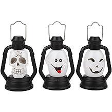 Gladle Lanterna luminosa di Halloween Con Horror Sound Music E Props Night Light Decoration
