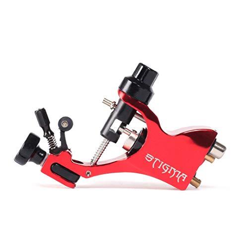 FLY CC Rotary Tattoo Machine, (Verbessert) Einstellbare Motor Tattoo Maschinen Mit Aluminiumlegierung/Schweizer Motor/Cinch Und Hookline Dual Interface Für Tätowierer,Rot