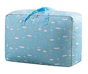 House of Quirk Fabric 50 cm Travel Duffle (2XL_STORAGEBAG_BLUCLOUD_Blue)