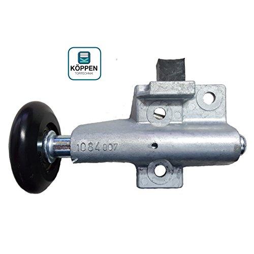 Hörmann Rollenhalter / Laufrolle (links) kugelgelagert für N80 Schwingtor mit Halter, Stopper und verschiebbarer Laufrolle
