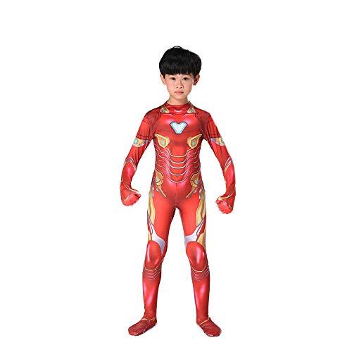 YXIAOL Superheld Cosplay Kostüm, Avengers Iron Man Kostüm, Halloween Karneval Kostüm, Film Cosplay Kostüm Erwachsene/Kinder 3D - Ironman Kostüm Kid
