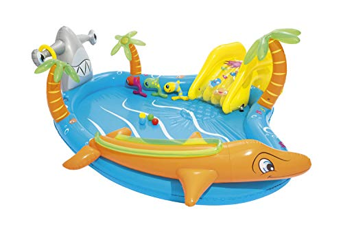 Bestway Inflatable Kids Water Play Center - Sea Life Paddling Pool with Multiple Activities