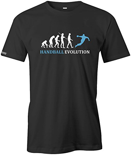 Handball Evolution - Sport - Handballer - Herren T-Shirt in Schwarz by Jayess Gr. XL