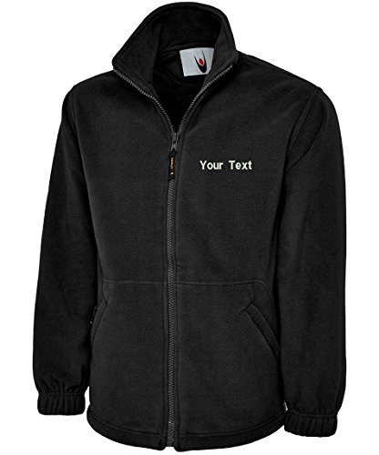 swagwear Embroidered Ladies Classic Full Zip Fleece Your Text Logo Personalised Workwear Uniform Fleece 5 Colours (XS-XL) 608