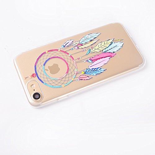 """iPhone 7 Cover , IJIA Ultradünne Transparent Schöne Blaue Blumen TPU Weich Silikon Stoßkasten Hülle Handyhülle Schutzhülle Handyhüllen Schale Case Tasche für Apple iPhone 7 4.7"""" TT7"""
