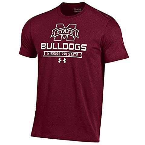 NCAA Mississippi State Bulldogs Men's Short Sleeve Charged Cotton Tee, Small, Maroon