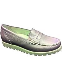 9129f6b32c4c Fosters Shoes, Damen-Mokassin Slipper mit Fußbett, echtes Leder, breiter  geschnitten