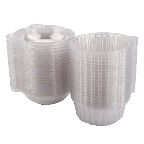 Zerone 100 große Cupcake-Box aus Kunststoff, durchsichtig, für Zuhause, Küche, 112 x 80 mm (Single Cupcake-container)