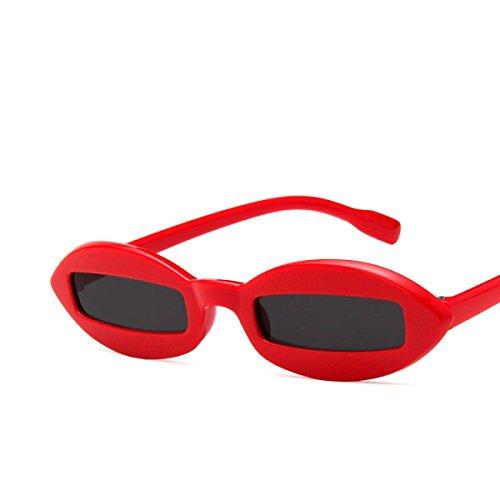 LQABW Lunettes De Soleil HD Driving Riding Polarisants Anti-éblouissement De Haute Qualité Sport Lunettes,Red