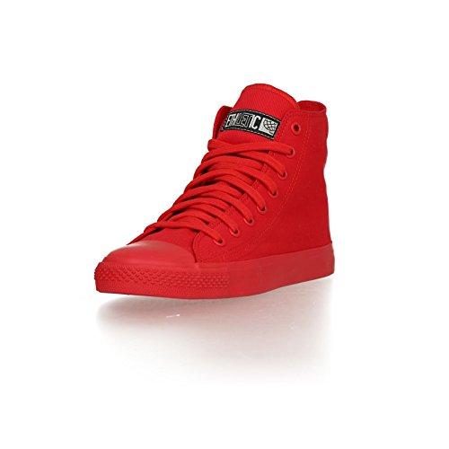 Ethletic Sneaker Monochrom vegan HiCut - Farbe cranberry aus Bio-Baumwolle Größe 40 - 2