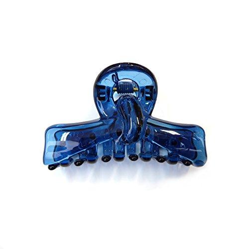 rougecaramel - Accessoires cheveux - Pince crabe simple - bleu