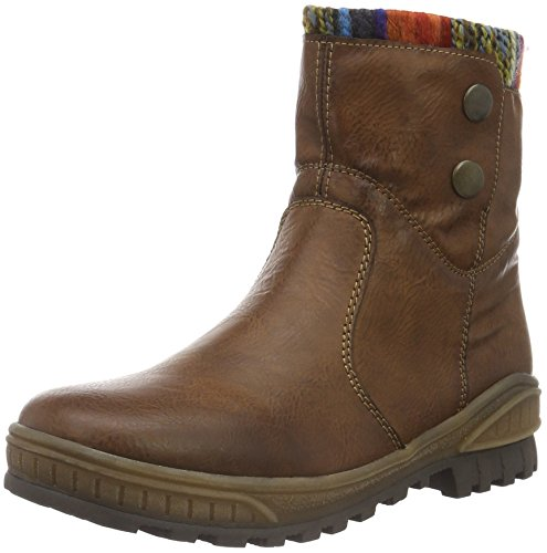 Rieker K3694, Bottes de Neige Fille Marron (Chestnut/Orange/Multi/24)