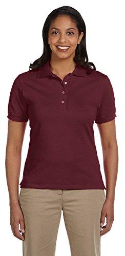 Jerzees Womens Welt Knit Collar Side Vent Polo Shirt Marron