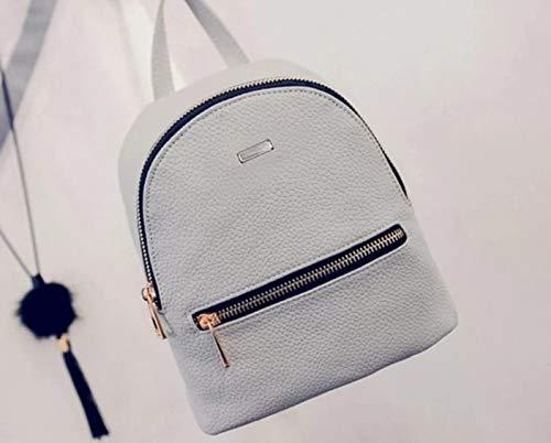 Best mini backpacks for girls in India 2020 JSPM® PU Leather Mini Backpack School Bag Student Backpack Women Travel bag Tuition Bag Backpack (Gray-SP-0341) Image 4