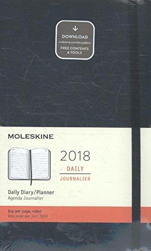 Moleskine Agenda Giornaliera, 12 Mesi, Large, Copertina Morbida, Nero