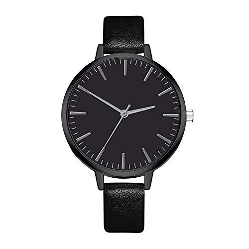 Tyoby Damen Uhren Elegante Verzierung Partydekorationen Mode Quarzuhr,Schönes kleines Geschenk(Schwarz1)