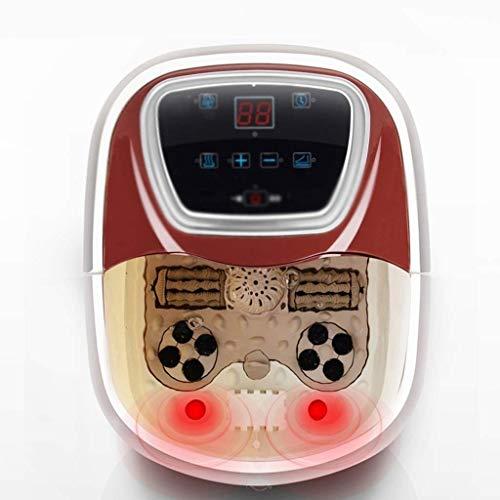 ZOUQILAI All-in-One-Massagegerät für große Fußbadewannen mit rollender Massage, Wärme, HF-Vibration, digitaler Zeit- und Temperaturregelung und LED-Anzeige - Conair-massagegerät