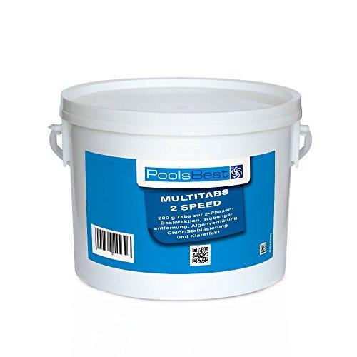 3 Kg - PoolsBest® Multi 2 Speed 6 in 1, Tabs (schnell- & langsaml.) -