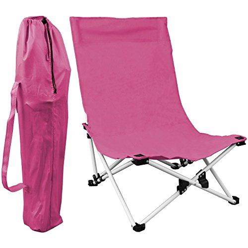 Campingstuhl inkl. Transporttasche 53x53x75cm Strandstuhl faltbar Faltstuhl - Pink