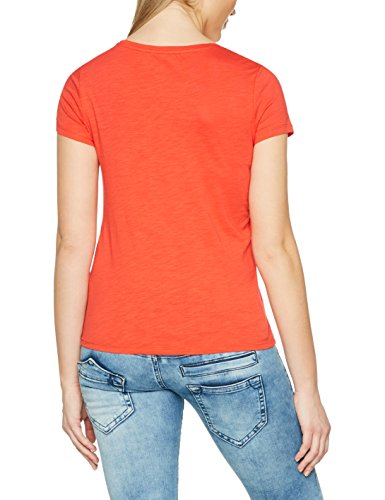 TOM TAILOR Denim Damen T-Shirt Tee With Print Rot (Strong Red 4479)